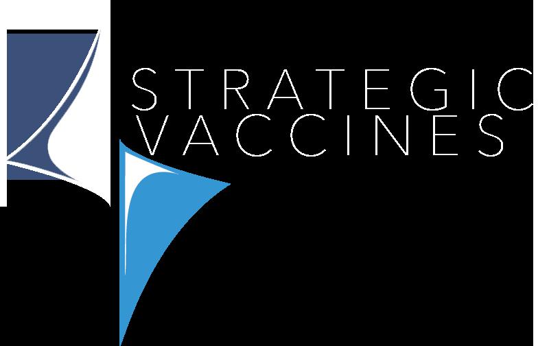 Strategic Vaccines Logo in white